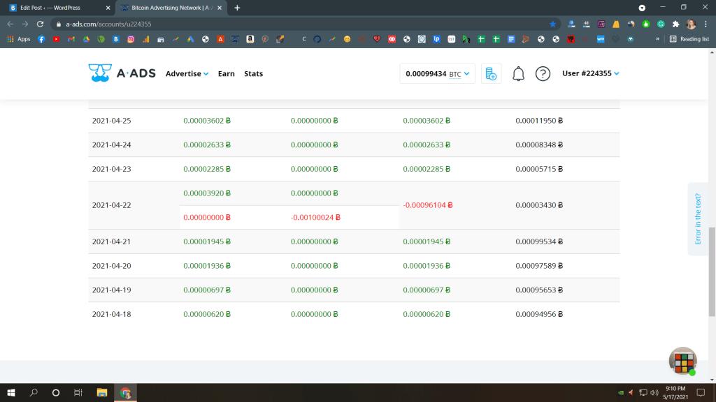 A-ads.com Payment Proof