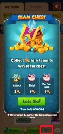Get Coin Master Team Chest Keys